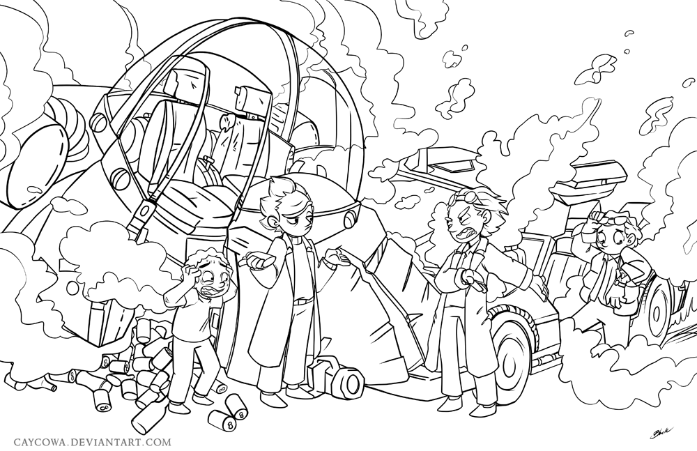 back to the future coloring pages - rick and morty face sketch coloring page