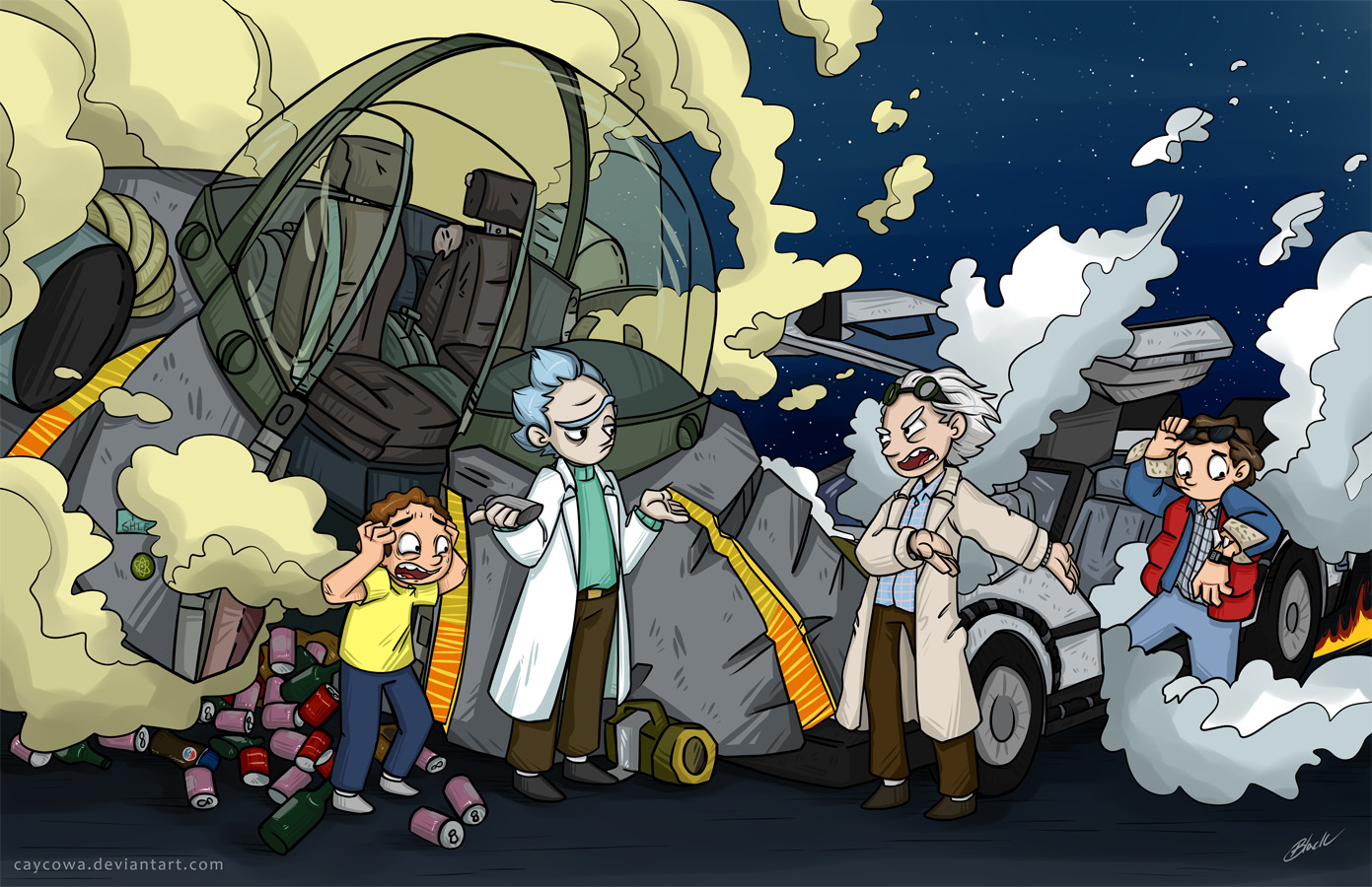 Back To The Future Rick And Morty By Caycowa On Deviantart