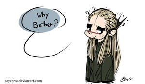 Hobbit - Thranduil - Why bother?
