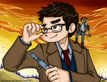 Commission - DW - Tenth Doctor and Zepheera