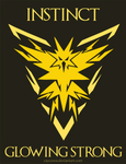 Pokemon Go - Team Instinct - Glowing Strong