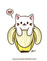 Bananya Cat by caycowa