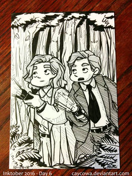 Inktober Day 6 - X-Files