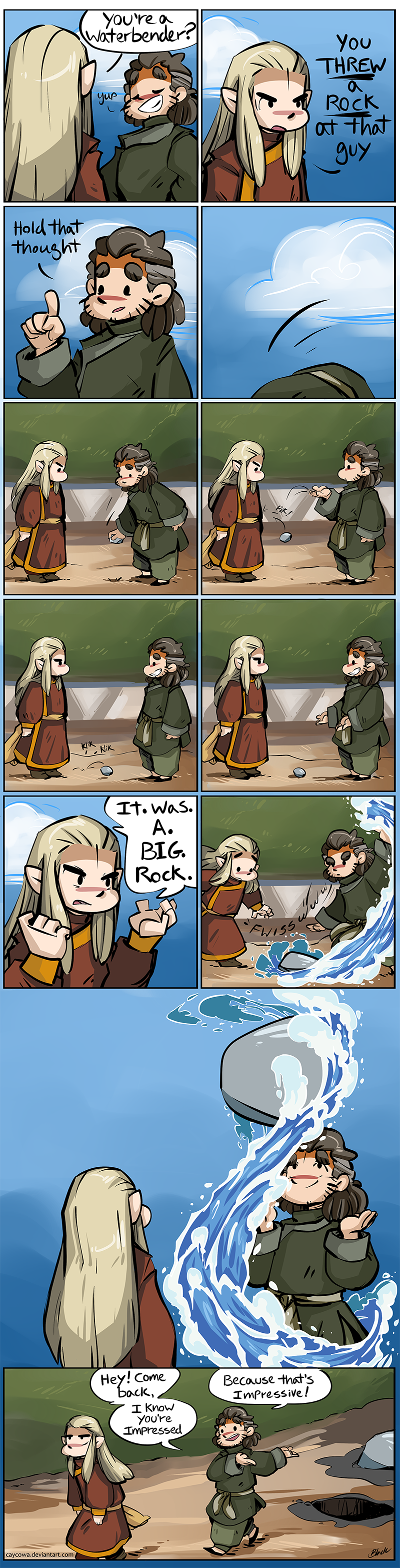 Hobbit ATLA -Fire and Water Comic for TheMirkyKing
