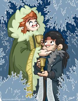 Hobbit - Snowflake Cave (Tauriel/Fem!Kili)