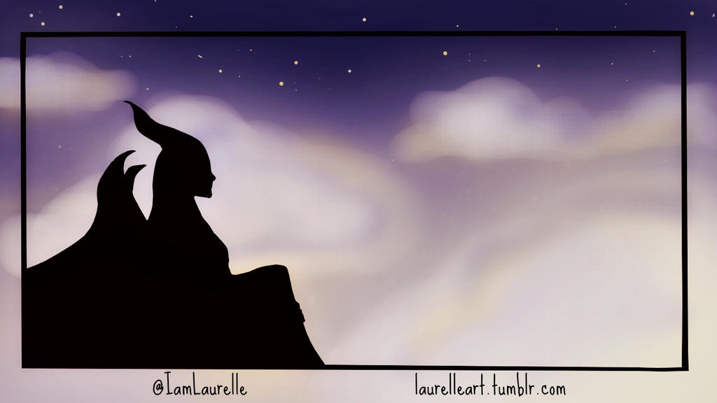 maleficents silhouette by laurelle on deviantart