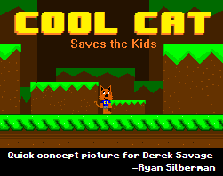 Cool Cat Saves the Kids game mockup image by RyanSilberman