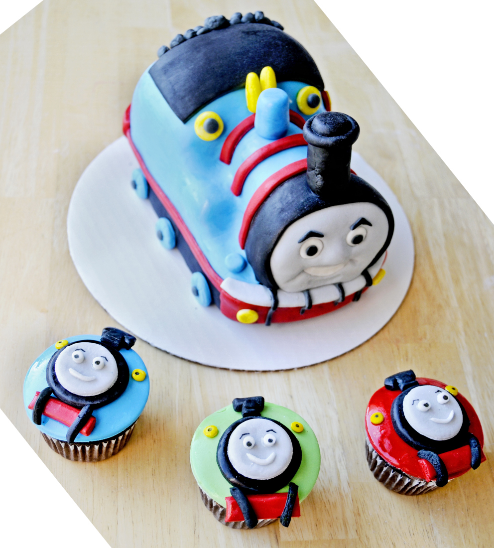 Thomas the Train Cake Topper and Cupcakes by KayleyMackay ...