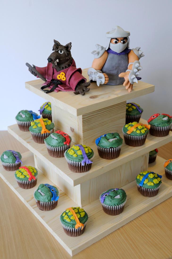 Shredder Birthday Cake