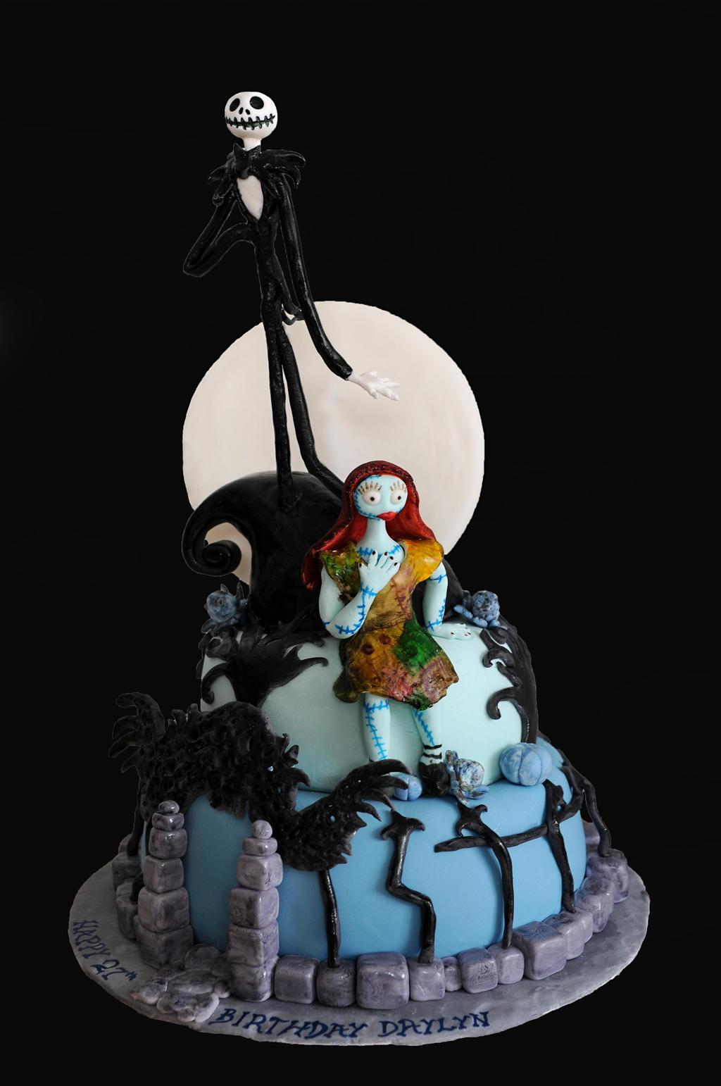 Nightmare Before Christmas Cake by KayleyMackay on DeviantArt