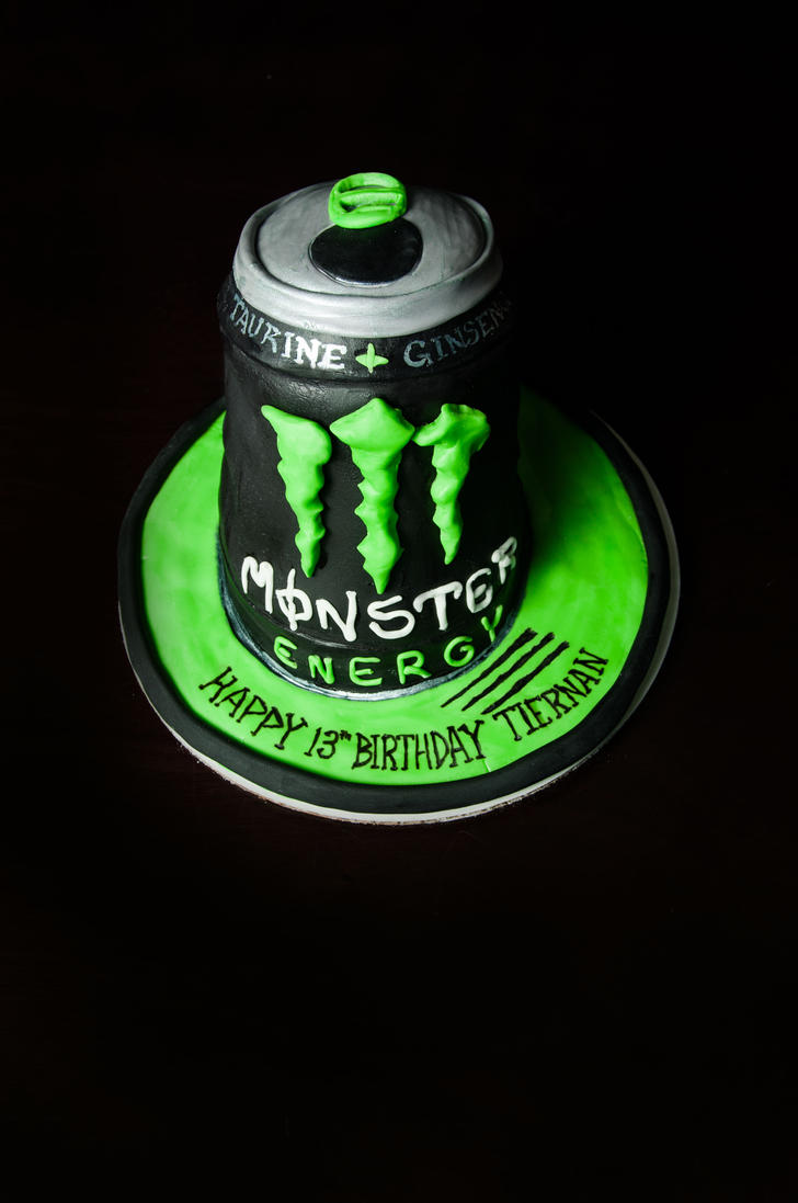 How To Make A Monster Energy Drink Cake