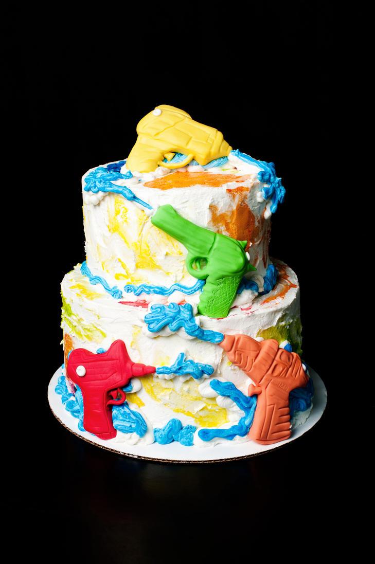 Water gun themed birthday cake by kayleymackay on deviantart water gun themed birthday cake by kayleymackay publicscrutiny Choice Image