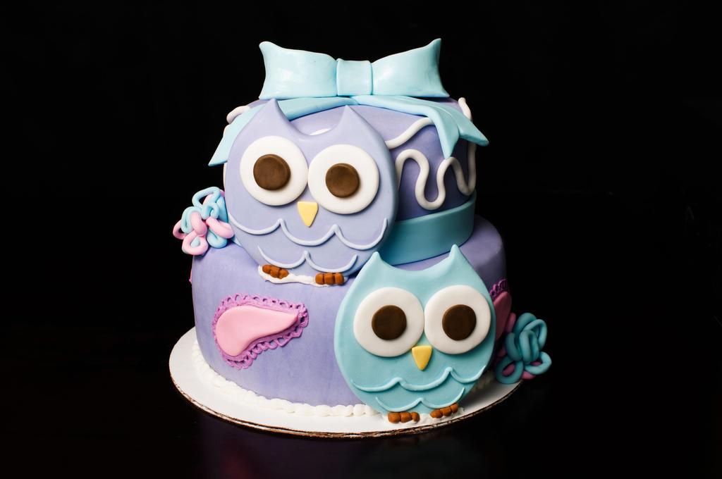 Cute Owl Themed First Birthday Cake by KayleyMackay on DeviantArt