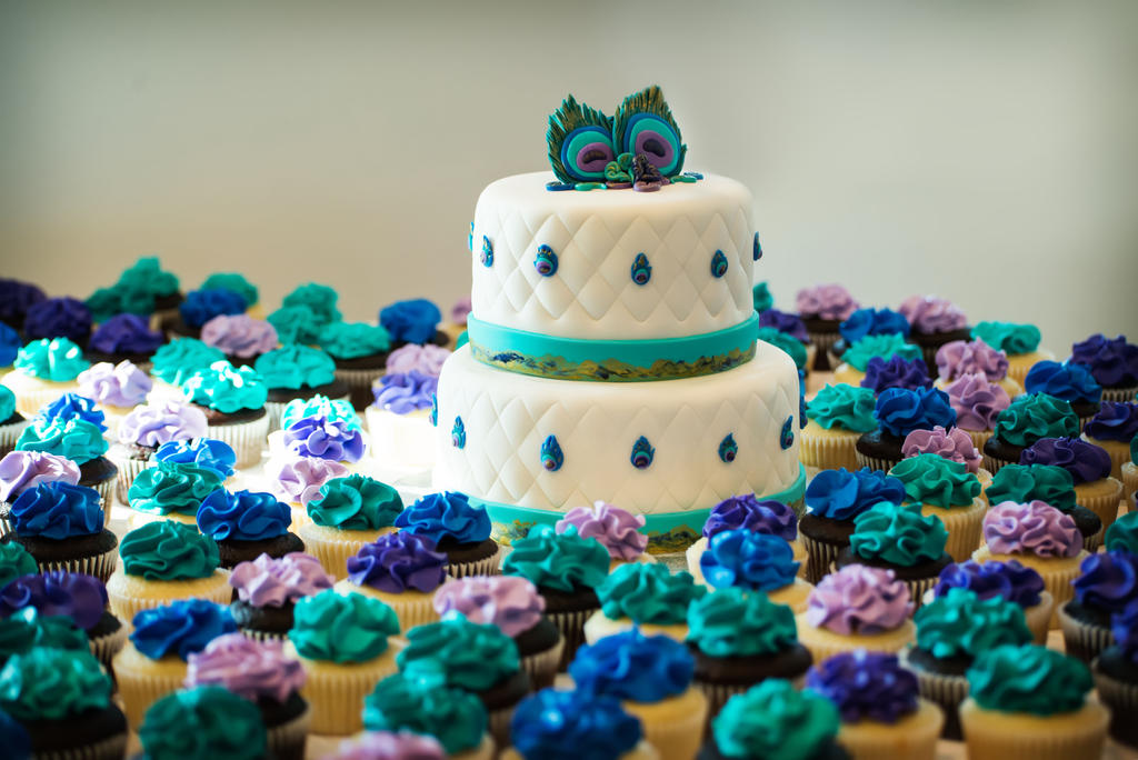 Peacock Themed Wedding Cake And Cupccakes By KayleyMackay On DeviantArt