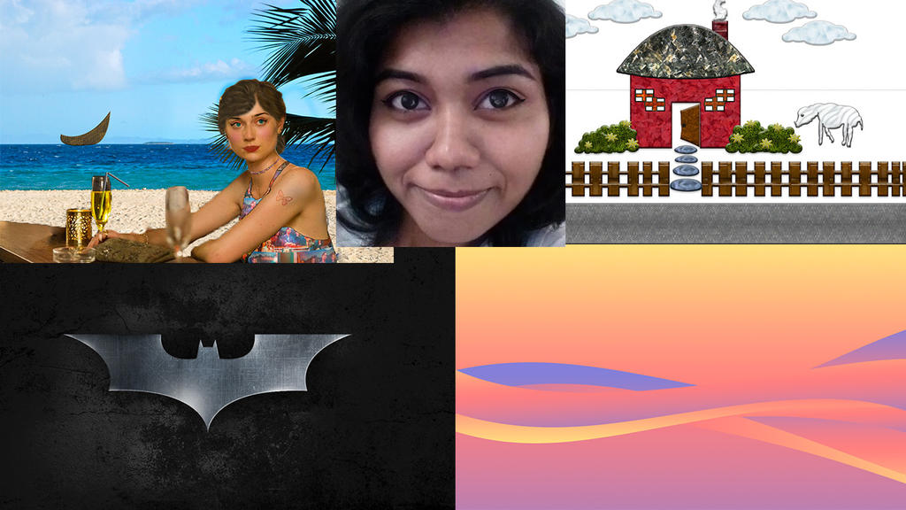My First Photoshop Projects Collage by BlossomsToBones