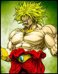 Legendary Super Saiyan Broly by SouthernDesigner