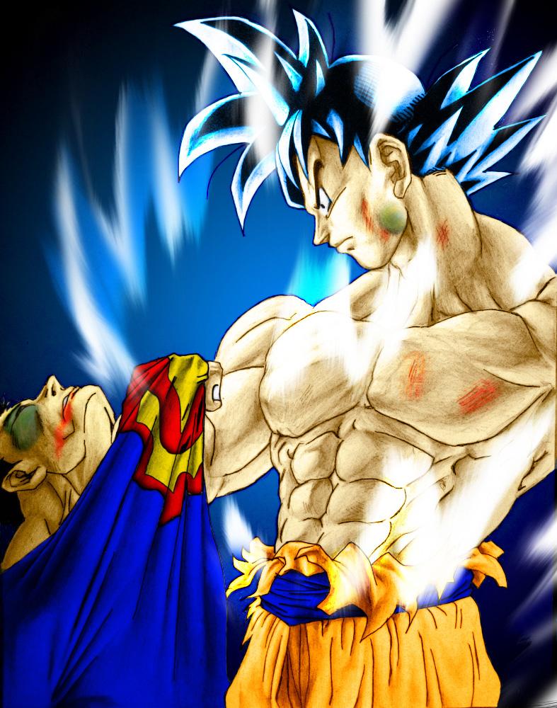 Goku vs. Superman by SouthernDesigner