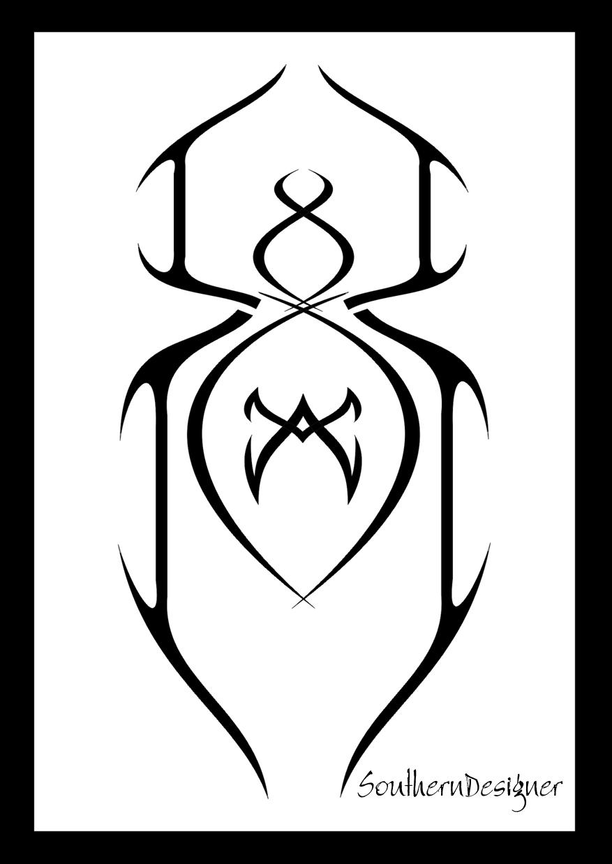 tribal spider tattoo by southerndesigner on deviantart. Black Bedroom Furniture Sets. Home Design Ideas