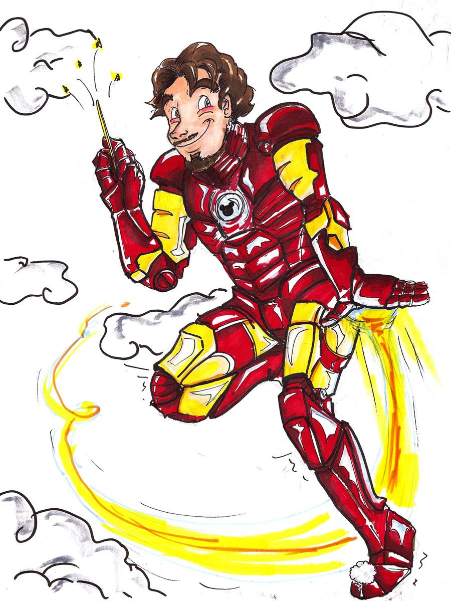 Tinker Tony, Magical Marvel by KoorimeYume
