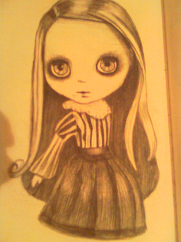 Blythe Doll Drawing by enisle on DeviantArt