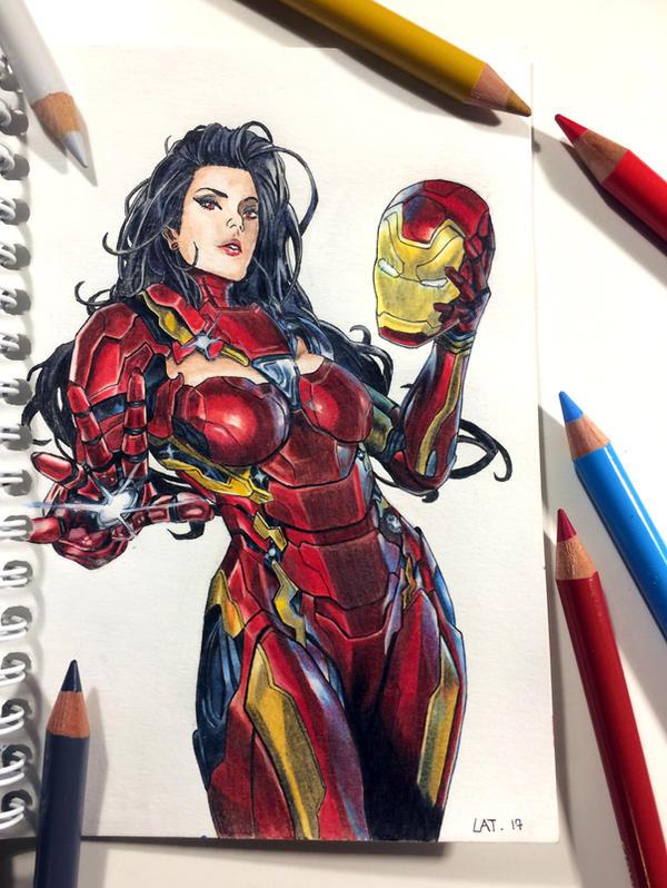 Ironwoman Color pencil