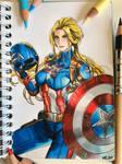 Captain America Color pencil