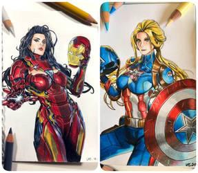 Captain America VS Iromwoman