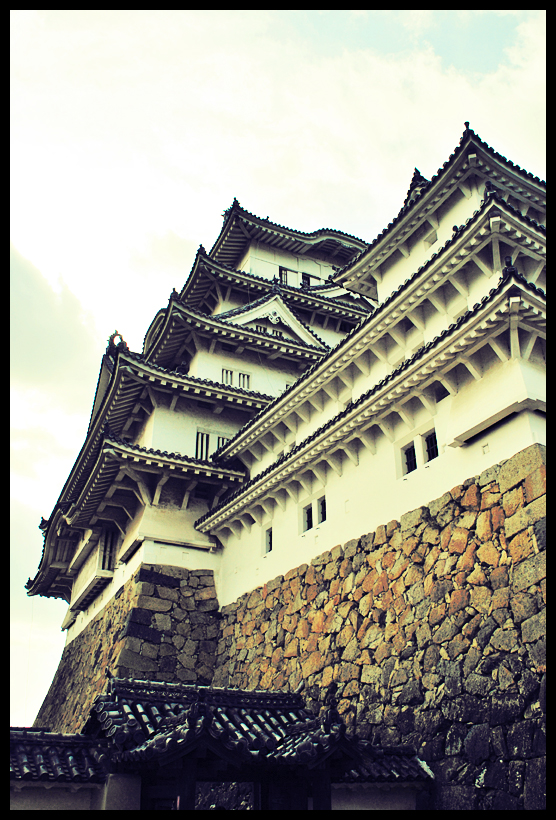 white heron castle by soyotome