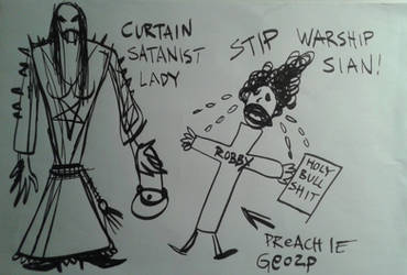 preach Le gosp and the curtain stanist lady by Drowninsolitude