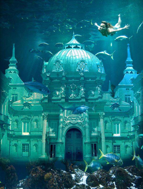 Underwater castle by Hellle on DeviantArt