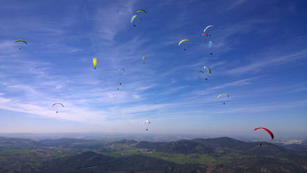 Paragliding in spanish heaven