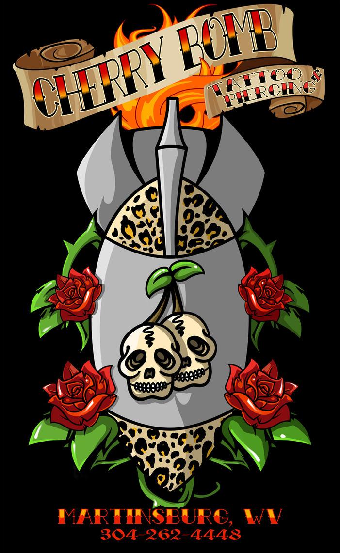 Cherry bomb tattoo by formfanatic on deviantart for Cherry bomb tattoo parlor perth