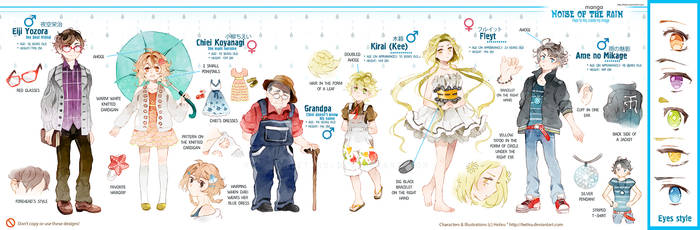 .Noise of the rain: CHARACTERS REFERENCE.
