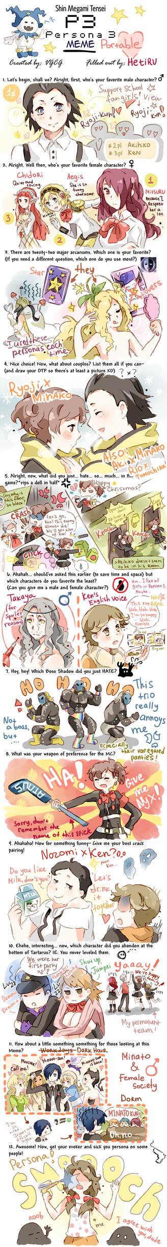 .Persona 3 Portable MEME. by Hetiru