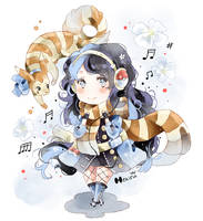 .CC. Sasha and her pokemon. by Hetiru