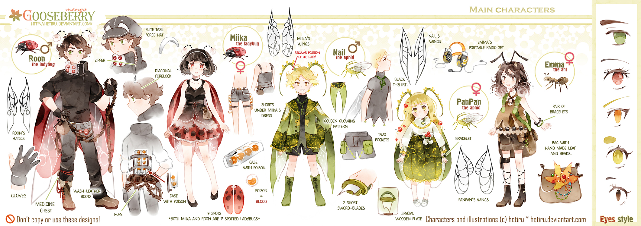 .GOOSEBERRY's characters ref. by Hetiru
