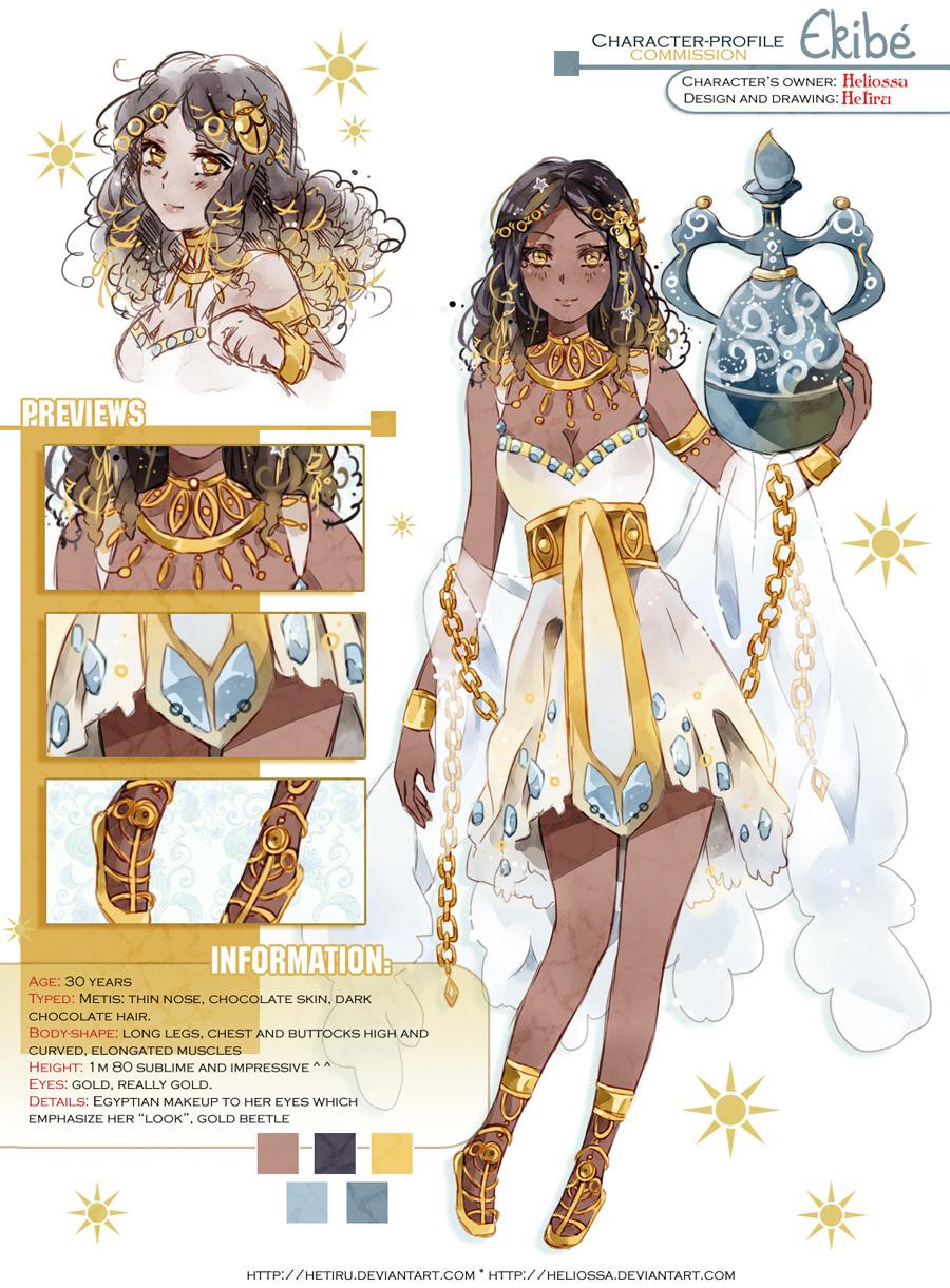 Deviantart Character Design Commission : Aracter profile commission ekibe by hetiru on deviantart