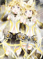 .We're electric voice systems. RIN and LEN. by Hetiru