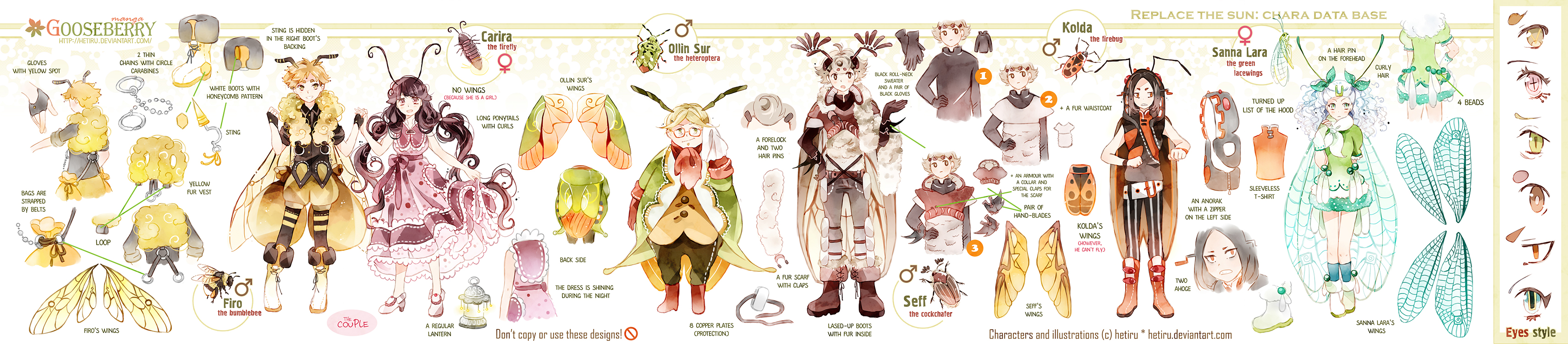 .GOOSEBERRY's additional characters' ref.