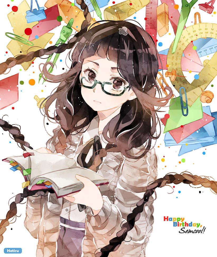 .Stationery girl. by Hetiru