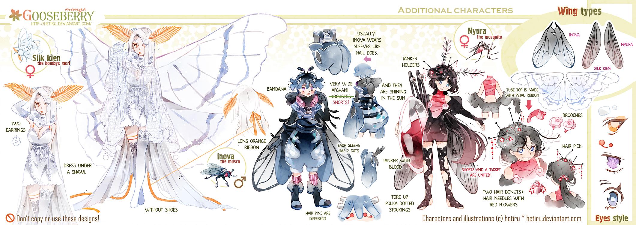 .GOOSEBERRY's bonus promo characters' ref. by Hetiru
