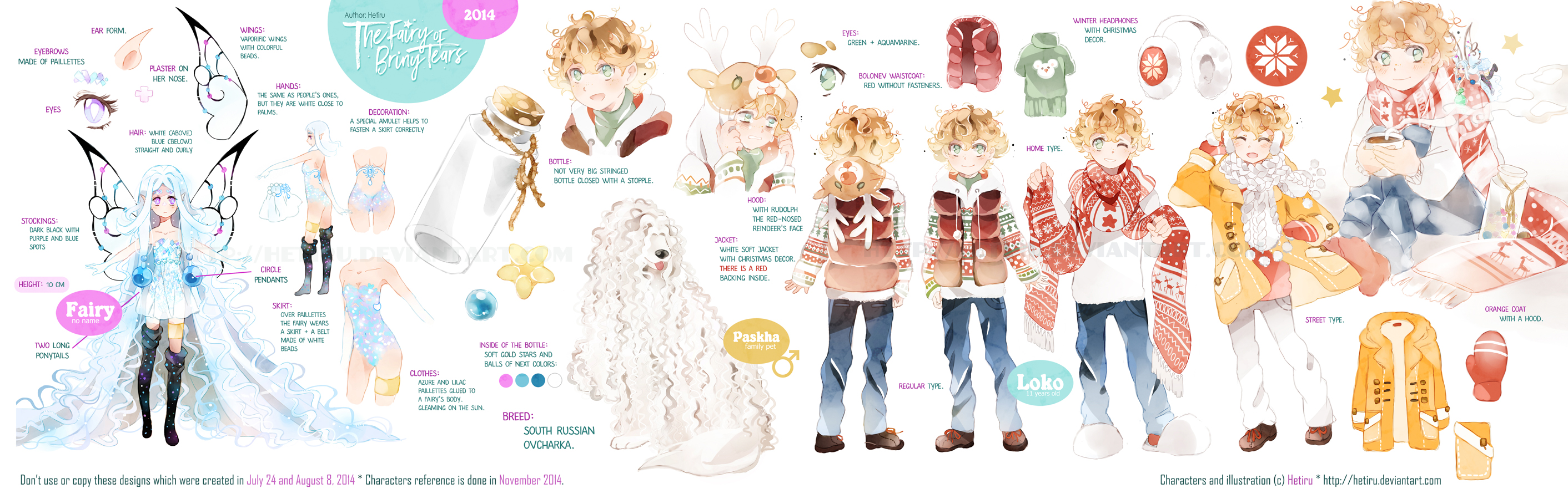 .The fairy of briny tears: CHARACTERS REFERENCE.