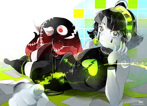 .Poisonous green.