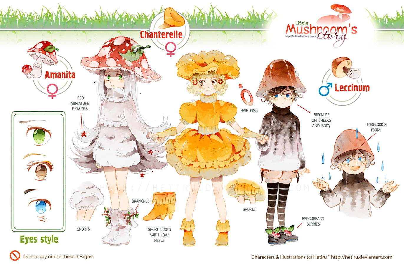 .Little Mushroom's Story: CHARACTERS REFERENCE.