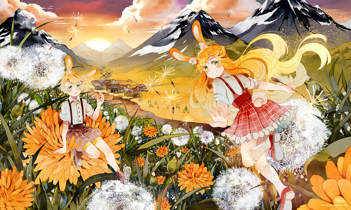 .CC. We were born in the dandelion meadow. by Hetiru