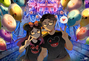 .CC. Journey to Disneyland. by Hetiru