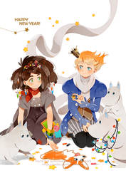 .Have a Happy Year with beloved book characters. by Hetiru