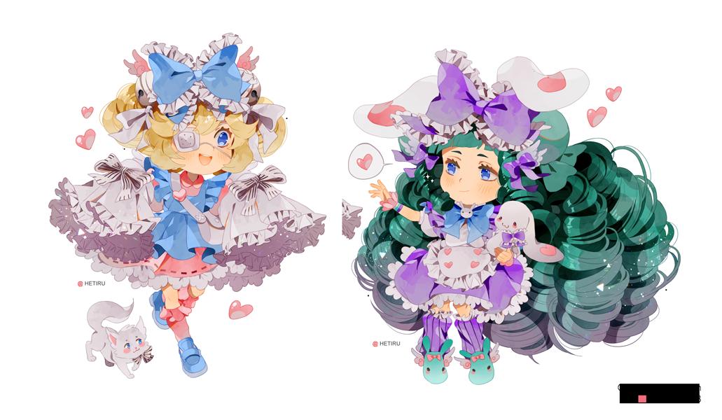 .Chibi commission: Cutesu and Miruku. by Hetiru