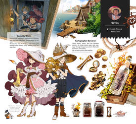 .Witch Artbook: Inventory page.