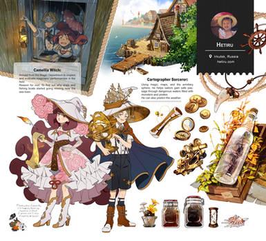 .Witch Artbook: Inventory page. by Hetiru